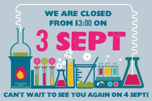 CTSC closed from 13:00 on 3 September